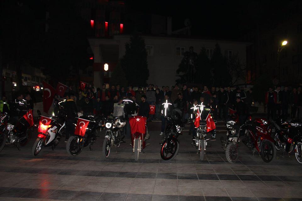 SOMA MOTORCULAR KULÜBÜ ŞEHİTLERİMİZ İÇİN TOPLANDI