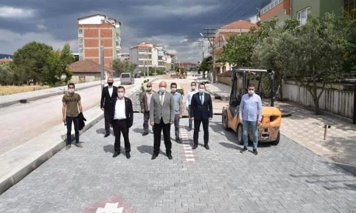 SOMA'YA PRESTİJ KAZANDIRACAK CADDEDE ÇALIŞMALAR SÜRÜYOR
