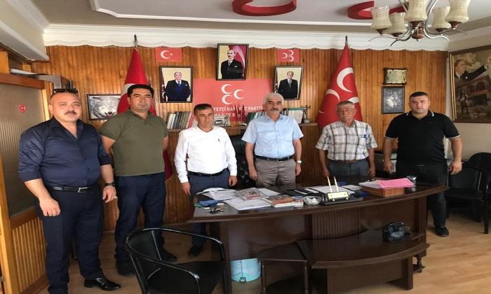 ADEM YILDIRIM'A SOMA MUHTARLARINDAN ZİYARET